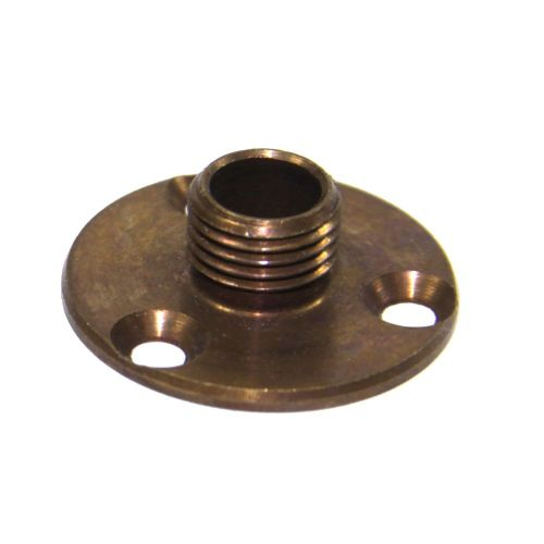 M10 x 1mm Pitch Solid Brass Lampholder Mounting or Fixing Plate Antique Finish